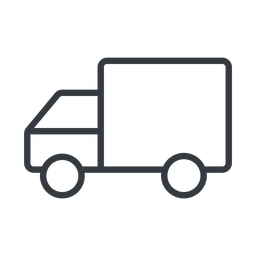 truck-thin thin, line, solid, horizontal, mirror, truck, delivery, van, lorry, truck-thin free icon 256x256 256x256px