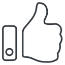 thumb-thin line, up, horizontal, mirror, rate, rating, thumb, like, dislike, thumbs, thump-up, thumb-down, approved, best, thumb-thin free icon 128x128 128x128px