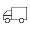 truck-thin thin, line, solid, horizontal, mirror, truck, delivery, van, lorry, truck-thin free icon 128x128 128x128px