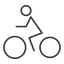 bicycle-thin thin, line, horizontal, mirror, vehicle, riding, bicycle, bike, cycle, cycling, bicycle-thin free icon 64x64 64x64px