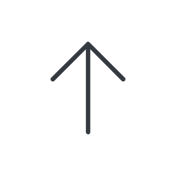 arrow-simple-thin thin, line, up, arrow, direction, arrow-simple-thin free icon 256x256 256x256px