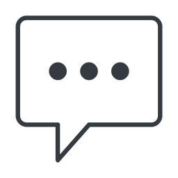 comment-square-dots-thin thin, line, square, dots, message, chat, comment, speech, dialogue, blablabla, blabla, bubbles, comment-square-dots-thin free icon 256x256 256x256px