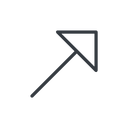 arrow-corner-thin thin, line, up, arrow, corner, arrow-corner-thin free icon 128x128 128x128px