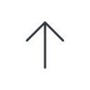 arrow-simple-thin thin, line, up, arrow, direction, arrow-simple-thin free icon 128x128 128x128px