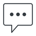comment-square-dots-thin thin, line, square, dots, message, chat, comment, speech, dialogue, blablabla, blabla, bubbles, comment-square-dots-thin free icon 128x128 128x128px