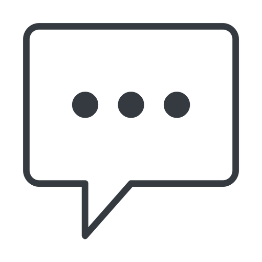 comment-square-dots-thin thin, line, square, dots, message, chat, comment, speech, dialogue, blablabla, blabla, bubbles, comment-square-dots-thin free icon 512x512 512x512px
