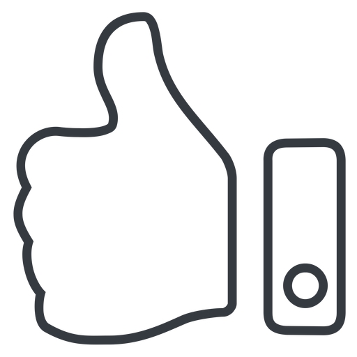 thumb-thin line, up, rate, rating, thumb, like, dislike, thumbs, thump-up, thumb-down, thumb-thin, hand free icon 512x512 512x512px