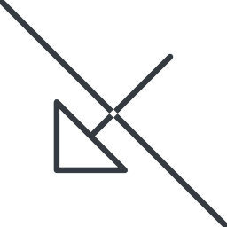 arrow-corner-thin thin, line, down, arrow, prohibited, corner, arrow-corner-thin free icon 256x256 256x256px