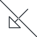 arrow-corner-thin thin, line, down, arrow, prohibited, corner, arrow-corner-thin free icon 128x128 128x128px