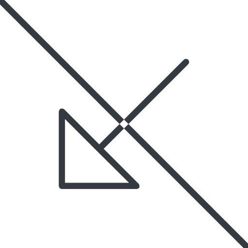 arrow-corner-thin thin, line, down, arrow, prohibited, corner, arrow-corner-thin free icon 512x512 512x512px
