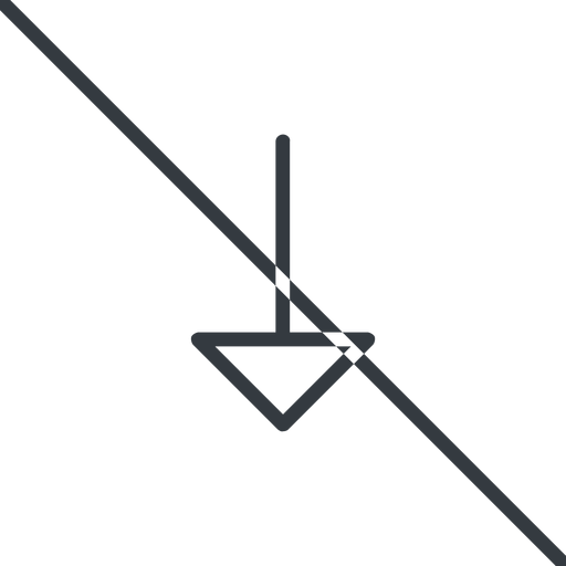 arrow-thin thin, line, down, arrow, prohibited, arrow-thin free icon 512x512 512x512px
