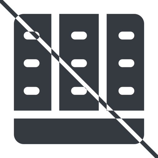 spreadsheet-solid thin, line, down, prohibited, cell, table, data, grid, row, columns, spreadsheet, spreadsheet-solid free icon 512x512 512x512px