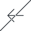 arrow-simple-thin thin, line, left, arrow, direction, prohibited, arrow-simple-thin free icon 128x128 128x128px