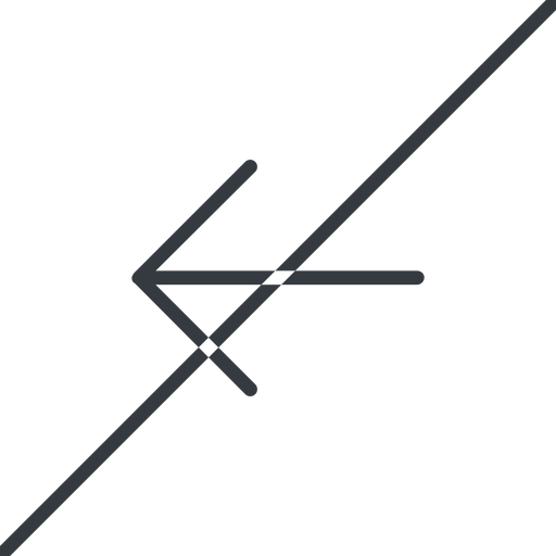 arrow-simple-thin thin, line, left, arrow, direction, prohibited, arrow-simple-thin free icon 512x512 512x512px