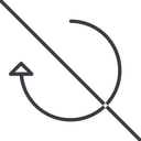 undo-thin thin, line, right, horizontal, mirror, arrow, prohibited, reload, refresh, undo, redo, undo-thin, restore free icon 128x128 128x128px
