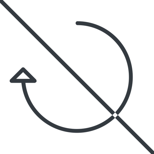 undo-thin thin, line, right, horizontal, mirror, arrow, prohibited, reload, refresh, undo, redo, undo-thin, restore free icon 512x512 512x512px