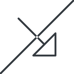 arrow-corner-thin thin, line, right, arrow, prohibited, corner, arrow-corner-thin free icon 256x256 256x256px