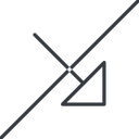 arrow-corner-thin thin, line, right, arrow, prohibited, corner, arrow-corner-thin free icon 128x128 128x128px