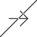 arrow-simple-thin thin, line, right, arrow, direction, prohibited, arrow-simple-thin free icon 128x128 128x128px