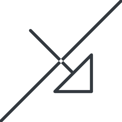 arrow-corner-thin thin, line, right, arrow, prohibited, corner, arrow-corner-thin free icon 512x512 512x512px