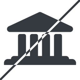 bank-solid thin, line, horizontal, mirror, prohibited, law, bank, banking, university, investment, finance, bank-solid, court free icon 256x256 256x256px