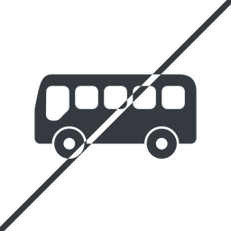 bus-side thin, line, wide, horizontal, mirror, car, vehicle, transport, prohibited, bus, side, bus-side free icon 256x256 256x256px