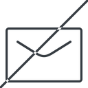 close-envelope-thin thin, line, horizontal, mirror, envelope, mail, message, email, prohibited, contact, close, unread, close-envelope, close-envelope-thin free icon 128x128 128x128px
