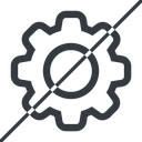 setting-thin thin, line, horizontal, mirror, setting, config, gear, wheel, settings, cog, prohibited, setting-thin free icon 128x128 128x128px