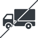 truck-solid thin, line, solid, horizontal, mirror, prohibited, truck, delivery, van, lorry, truck-solid free icon 128x128 128x128px