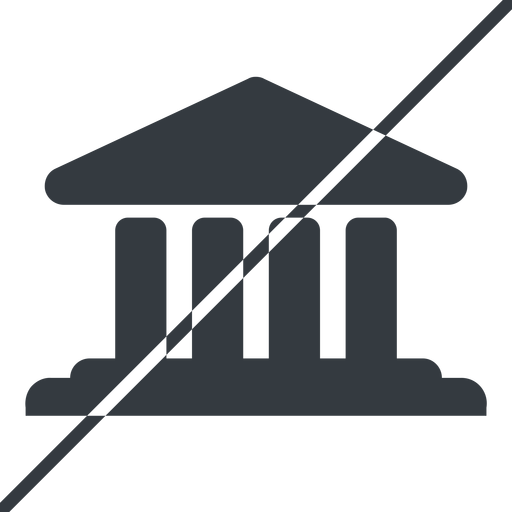 bank-solid thin, line, horizontal, mirror, prohibited, law, bank, banking, university, investment, finance, bank-solid, court free icon 512x512 512x512px
