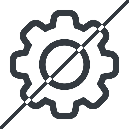 setting-thin thin, line, horizontal, mirror, setting, config, gear, wheel, settings, cog, prohibited, setting-thin free icon 512x512 512x512px