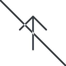 arrow-simple-thin thin, line, up, arrow, direction, prohibited, arrow-simple-thin free icon 256x256 256x256px