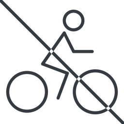 bicycle-thin thin, line, vehicle, prohibited, riding, bicycle, bike, cycle, cycling, bicycle-thin free icon 256x256 256x256px