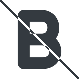 bold-alt thin, line, b, prohibited, text, type, editor, font, typography, font-weight, bold, bold-alt, strong free icon 256x256 256x256px