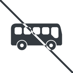 bus-side thin, line, wide, car, vehicle, transport, prohibited, bus, side, bus-side free icon 256x256 256x256px