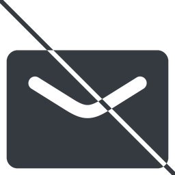 close-envelope-solid thin, line, envelope, mail, message, email, prohibited, contact, close, unread, close-envelope-solid, close-envelope free icon 256x256 256x256px