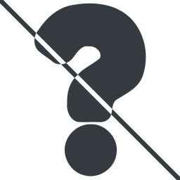 question-mark-alt-solid thin, line, question, prohibited, question-mark, faq, help, question-mark-alt-solid, question-mark-alt free icon 256x256 256x256px