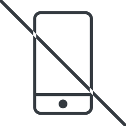 smartphone-thin thin, line, up, prohibited, iphone, phone, mobile, android, gsm, smartphone, cell, smartphone-thin free icon 256x256 256x256px