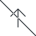 arrow-simple-thin thin, line, up, arrow, direction, prohibited, arrow-simple-thin free icon 128x128 128x128px