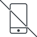 smartphone-thin thin, line, up, prohibited, iphone, phone, mobile, android, gsm, smartphone, cell, smartphone-thin free icon 128x128 128x128px