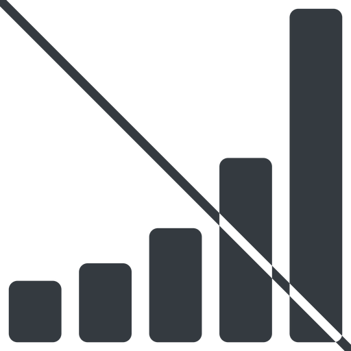 bar-chart-solid thin, line, up, graph, chart, prohibited, statistics, antenna, mobile, signal, bars, level, strength, bar, bar-chart-solid free icon 512x512 512x512px