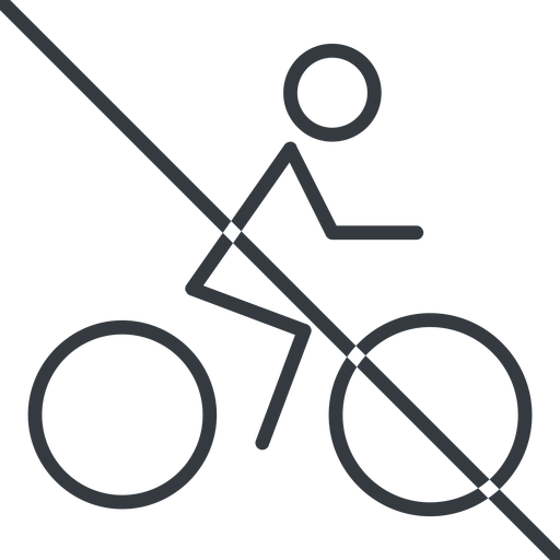 bicycle-thin thin, line, vehicle, prohibited, riding, bicycle, bike, cycle, cycling, bicycle-thin free icon 512x512 512x512px