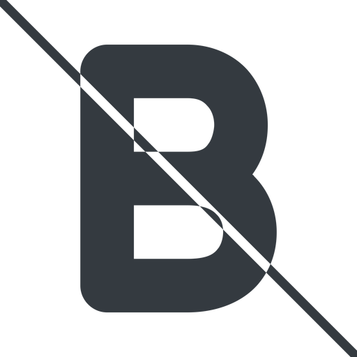 bold-alt thin, line, b, prohibited, text, type, editor, font, typography, font-weight, bold, bold-alt, strong free icon 512x512 512x512px