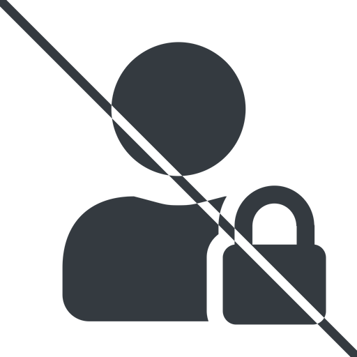 user-lock-solid thin, line, user, man, woman, person, prohibited, secure, safe, padlock, locked, lock, user-lock, user-lock-solid free icon 512x512 512x512px