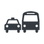 Thin, solid, car, vehicle, transport, bus, dot, ground, transportation, ground-transportation, dot-ground-transportation icon