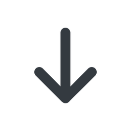 arrow-simple-wide line, down, arrow, direction, arrow-simple-wide free icon 256x256 256x256px