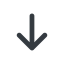 arrow-simple-wide line, down, arrow, direction, arrow-simple-wide free icon 128x128 128x128px