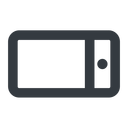 smartphone-wide line, left, wide, iphone, phone, mobile, android, gsm, smartphone, cell, smartphone-wide free icon 128x128 128x128px
