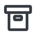 archive-wide line, wide, archive, back-up, archive-wide free icon 128x128 128x128px