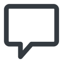 comment-square-wide line, wide, square, dots, message, chat, comment, speech, dialogue, blablabla, blabla, bubbles, comment-square-wide free icon 128x128 128x128px
